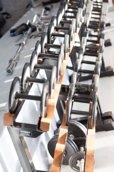 Stock fotó: Néma · felfelé · fitnessz · stúdió · kép · rövid