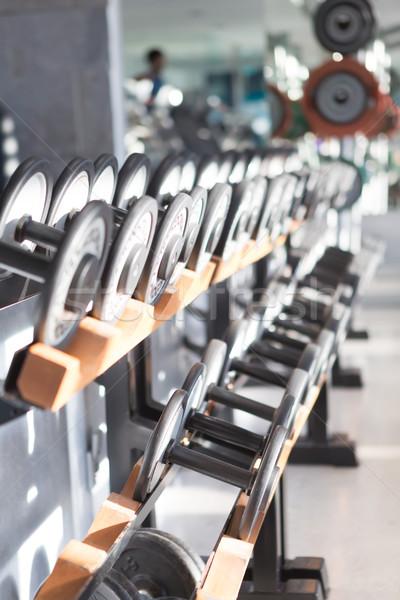 Stom omhoog fitness studio foto kort Stockfoto © hsfelix