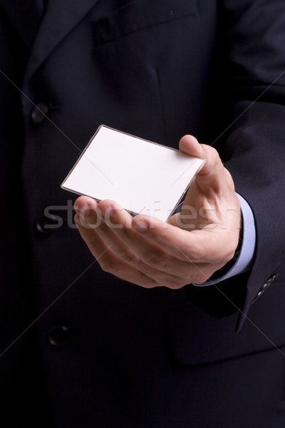 Hand of businessman offering businesscard Stock photo © hsfelix