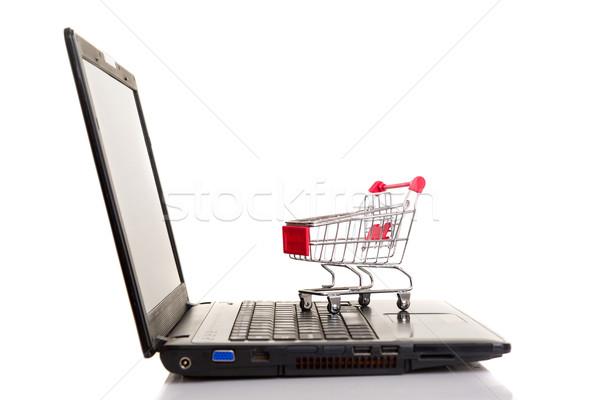 Корзина портативного компьютера ноутбука технологий пространстве Сток-фото © hsfelix