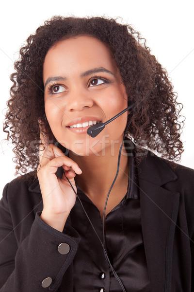 電話 演算子 優しい 小さな 美しい 作業 ストックフォト © hsfelix