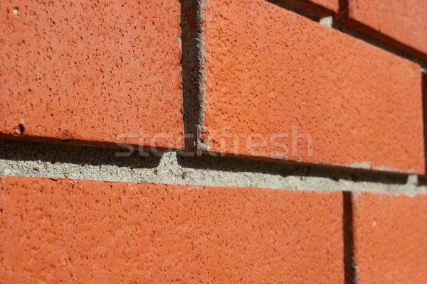 Сток-фото: красный · стены · перспективы · текстуры · строительство · дизайна