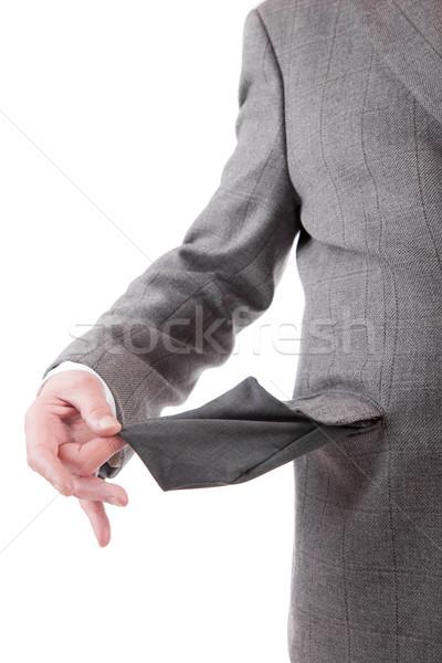 Man holding empty pocket Stock photo © hsfelix
