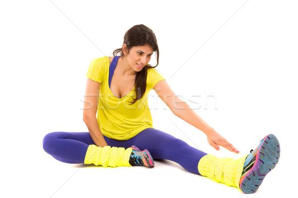 Donna bella donna fitness isolato copia spazio Foto d'archivio © hsfelix