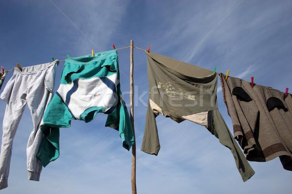 öreg ruházat gyönyörű kék ég kék felhő Stock fotó © hsfelix