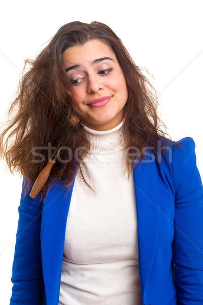 Woman taking care of her hair Stock photo © hsfelix