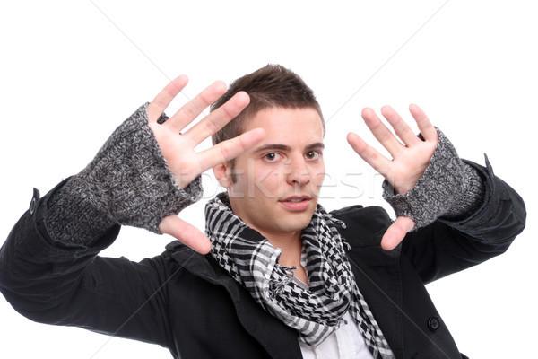 Young casual man posing Stock photo © hsfelix