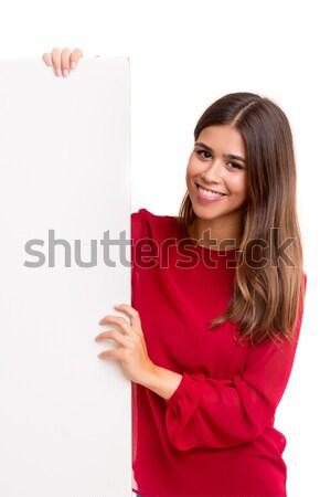 Wow guardare bella giovani donna d'affari Foto d'archivio © hsfelix