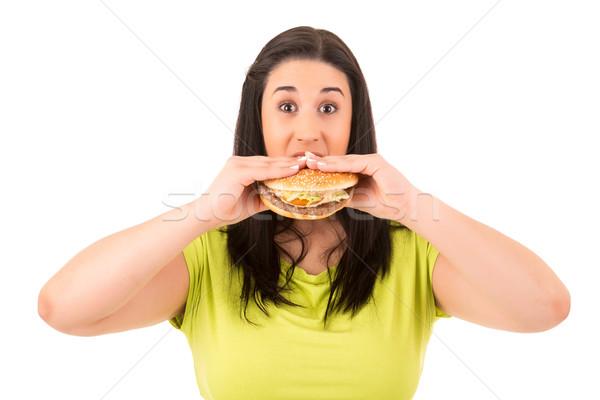Diety piękna kobieta nie apetyczny Zdjęcia stock © hsfelix