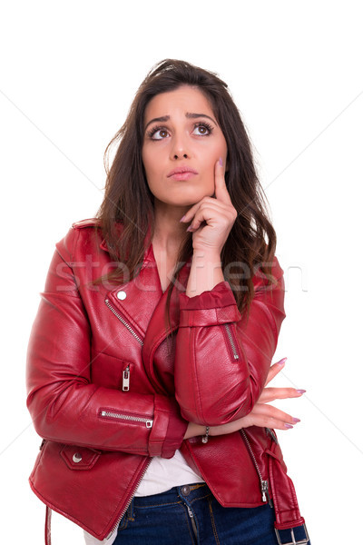 Stock photo: Hum... let me think about this