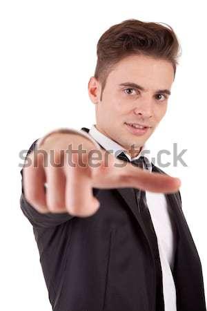 Business man, pointing forward Stock photo © hsfelix