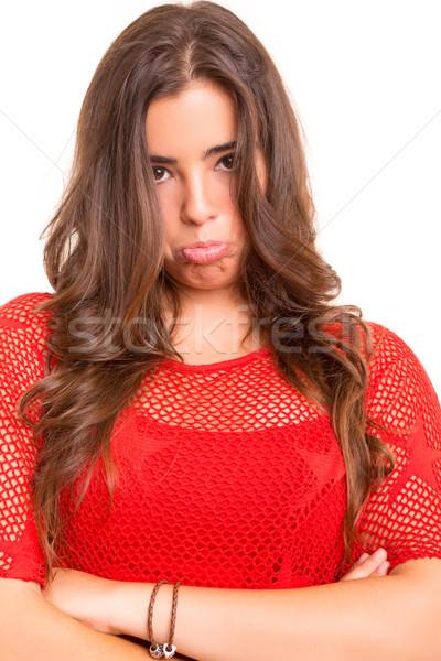 печально подростку позируют белый бизнеса женщину Сток-фото © hsfelix