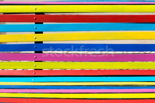 Bank detay güzel renkli ahşap Stok fotoğraf © hsfelix