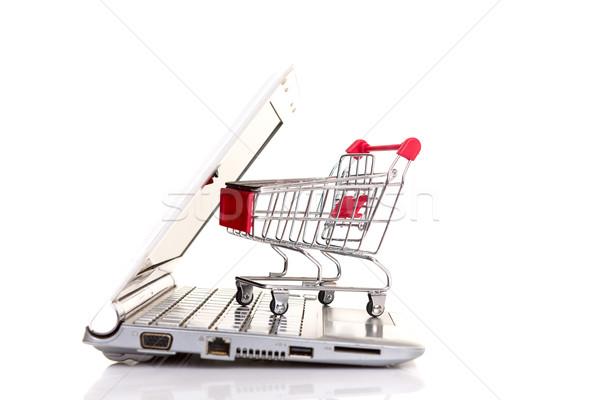 Корзина портативного компьютера бизнеса технологий связи Сток-фото © hsfelix