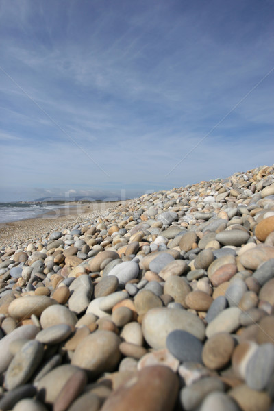 Strand perspectief blauwe hemel hemel water zon Stockfoto © hsfelix