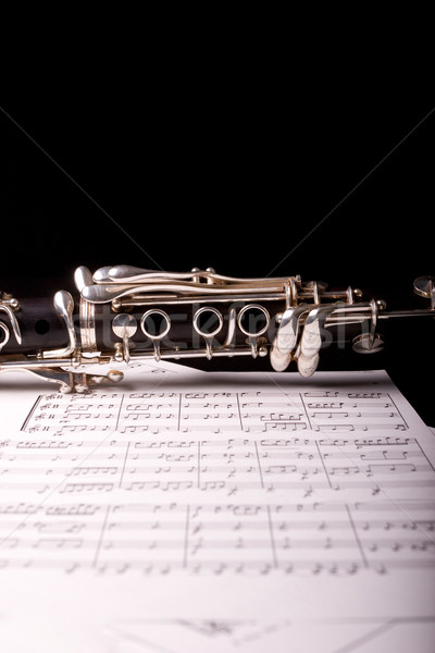 Detail of a clarinet Stock photo © hsfelix
