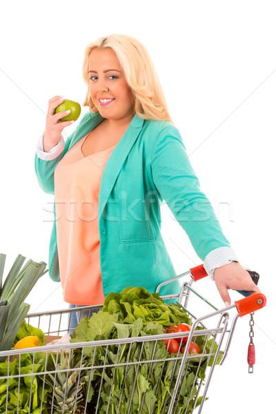 Femme supermarché recherche aliments sains fitness Photo stock © hsfelix
