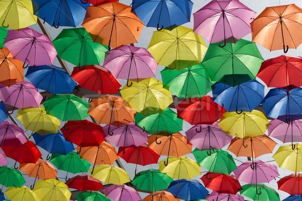 傘 空 市 テクスチャ 通り 芸術 ストックフォト © hsfelix