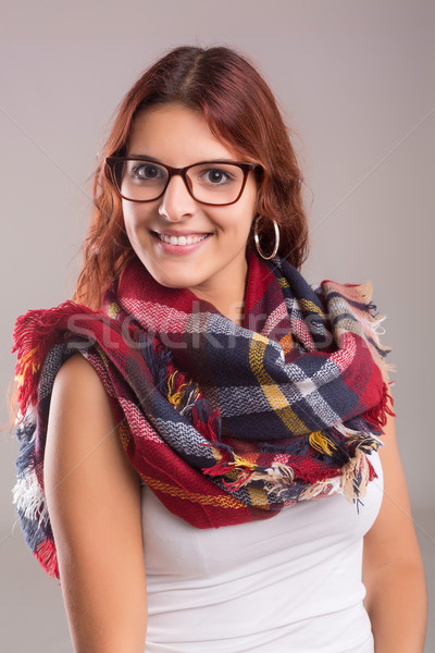 Jovem belo casual mulher menina Foto stock © hsfelix