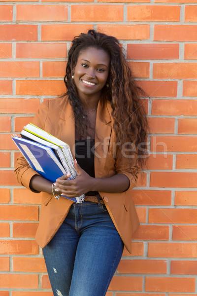 студент счастливым расслабляющая университета кампус образование Сток-фото © hsfelix