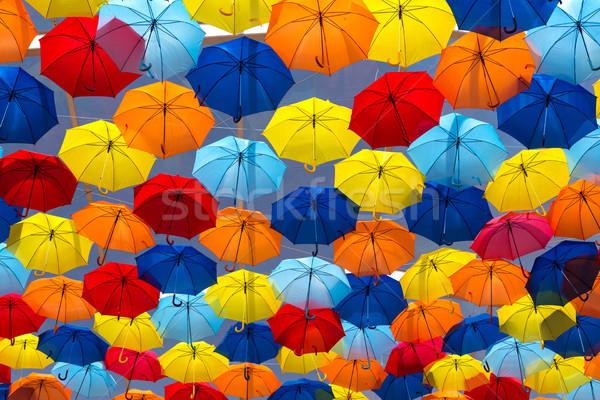 傘 空 市 太陽 デザイン 背景 ストックフォト © hsfelix