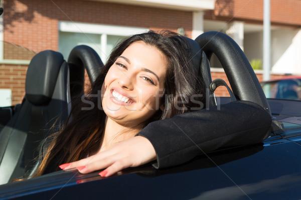 Iş kadını spor araba genç başarılı lüks kız Stok fotoğraf © hsfelix