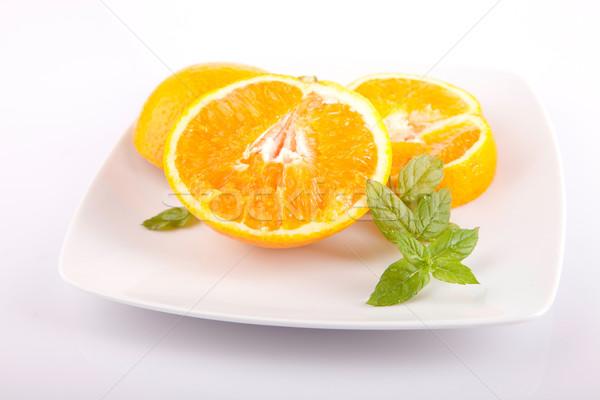 Stock fotó: Friss · narancs · izolált · fehér · természet · gyümölcs