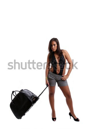 Jong meisje geïsoleerd witte vrouw sexy Stockfoto © hsfelix