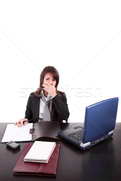 疲れ ビジネス女性 作業 ノートパソコン 女性 作業 ストックフォト © hsfelix