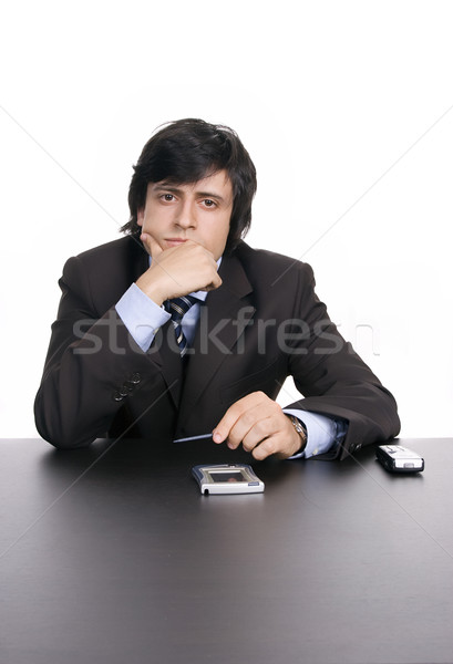 young businessman, working with pda Stock photo © hsfelix