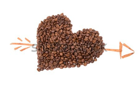 Star made of coffee beans Stock photo © hsfelix