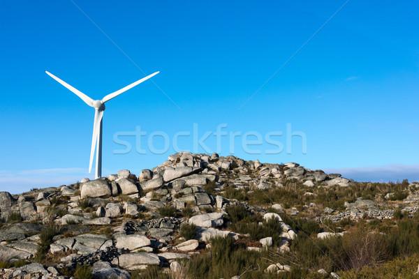 Foto stock: Vento · energia · belo · blue · sky · sol · tecnologia