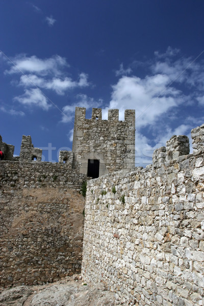 城 壁 観点 孤立した 青空 テクスチャ ストックフォト © hsfelix