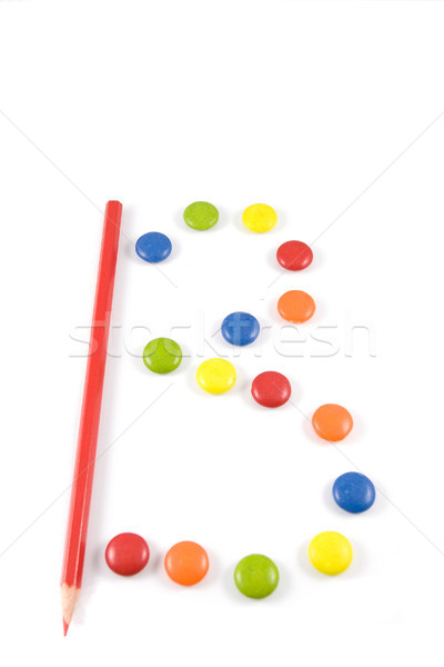Letter B made of colored chocolates Stock photo © hsfelix
