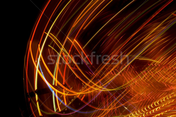 Abstract gekleurd lijnen geïsoleerd zwarte kunst Stockfoto © hsfelix