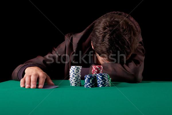 человека молодые красивый мужчина играет Техас деньги Сток-фото © hsfelix