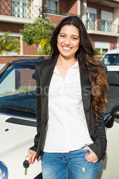 Iş kadını spor araba genç başarılı lüks araba Stok fotoğraf © hsfelix