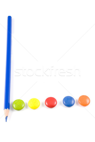 Letter L made of colored chocolates Stock photo © hsfelix
