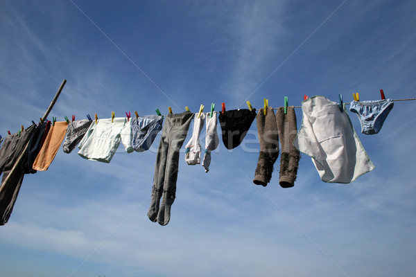 öreg ruházat gyönyörű kék ég égbolt víz Stock fotó © hsfelix
