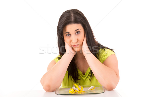 ダイエット 美しい 女性 食欲をそそる ハンバーガー ストックフォト © hsfelix