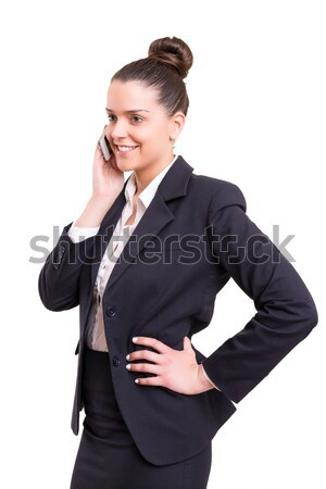 I'm at the phone right now! Stock photo © hsfelix
