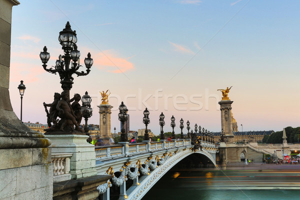 Alexander III Bridge Stock photo © hsfelix