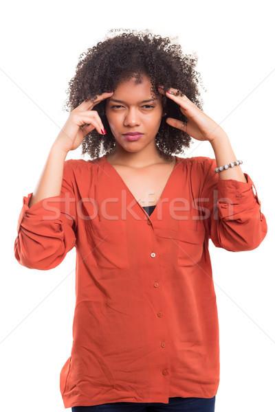 не головная боль изолированный белый женщину Сток-фото © hsfelix
