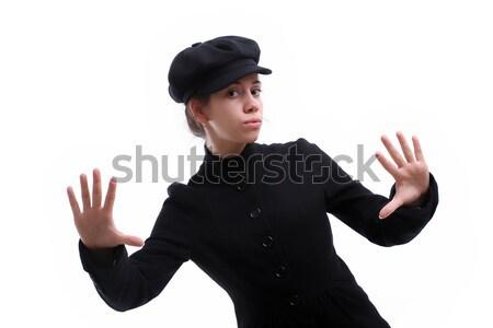 Jovem belo casual mulher posando isolado Foto stock © hsfelix