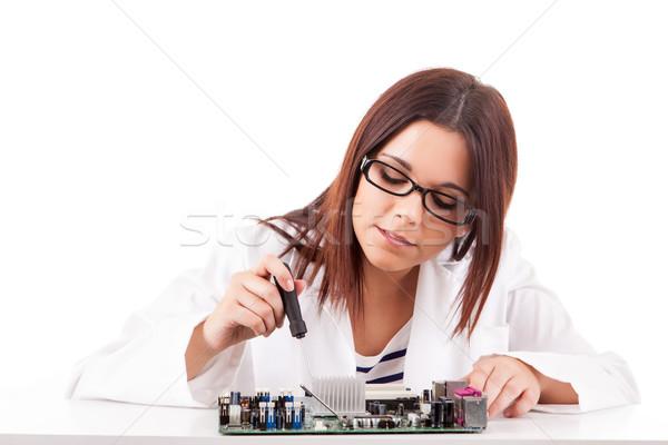 Computer technician Stock photo © hsfelix