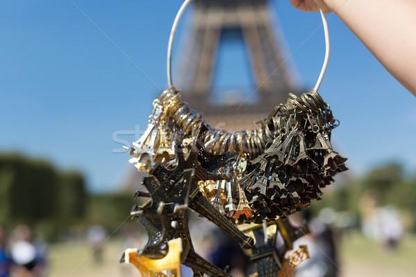 купить сувенир женщину небольшой Эйфелева Сток-фото © hsfelix