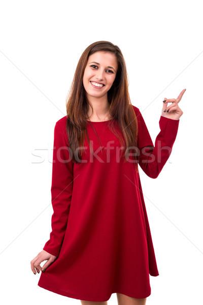 Vay bakmak genç güzel bir kadın ürün Stok fotoğraf © hsfelix