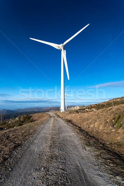Wind energy turbines Stock photo © hsfelix