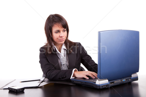 Tired business woman Stock photo © hsfelix