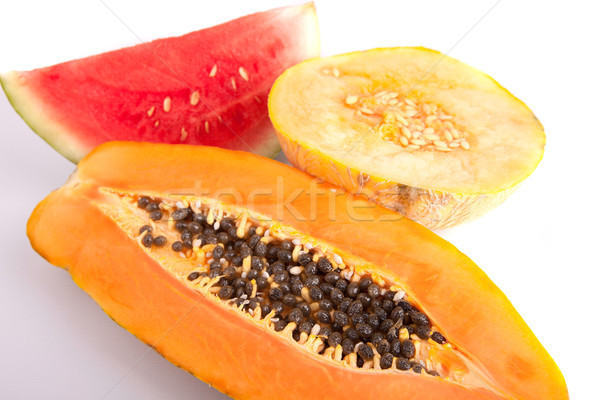 Papaya, melon and watermelon Stock photo © hsfelix